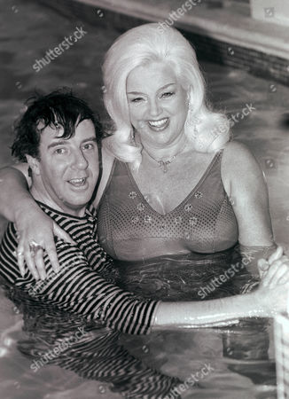 Russell Harty and Diana Dors
