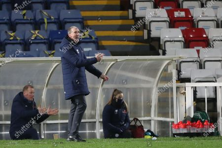 Stockport  County manager Jim Gannon during the Vanarama National League match between Hartlepool United and Stockport County at Victoria Park, Hartlepool on Tuesday 22nd December 2020