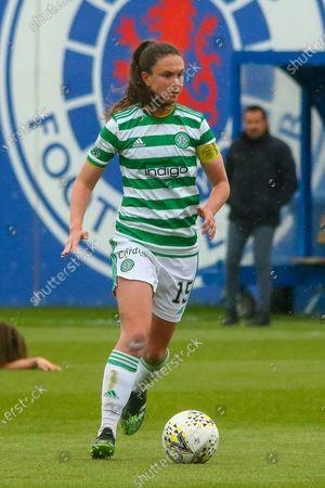Celtic Captain and opening goal scorer Kelly Clark (#15) during the Scottish Building Society Scottish Women's Premier League 1 Fixture Rangers FC vs Celtic FC, Rangers Training Complex, Milngavie, East Dunbartonshire, 23/05/2021 | CreditColin Poultney/ProSportsImages