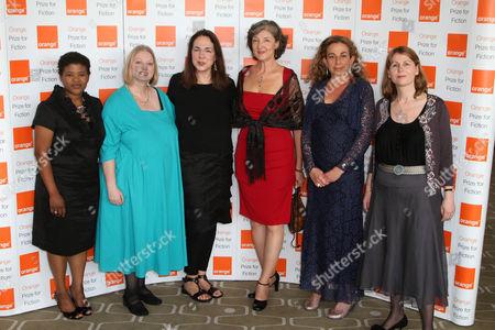 Stock Picture of Attica Locke, Hilary Mantel, Lorrie Moore, Barbara Kingsolver, Monique Roffey and Rosie Alison
