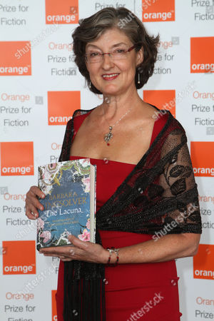 Barbara Kingsolver with her book 'The Lacuna'