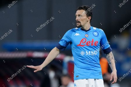 Mario Rui of SSC Napoli gestures during the Serie A match between SSC Napoli and Hellas Verona at Stadio Diego Armando Maradona, Naples, Italy on 23 May 2021.