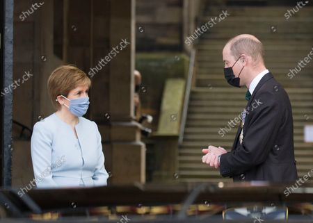 Prince William and the First Minister of Scotland Nicola Sturgeon