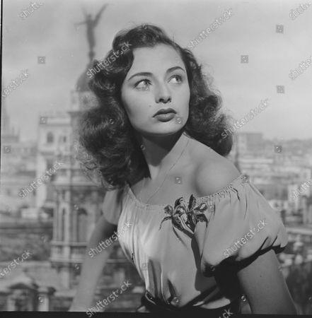 Potrait of Italian actress Marina Berti, 1950.