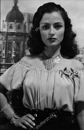 Portrait of Italian actress Marina Berti, United States, 1951.