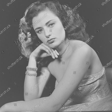 Stock Image of Marina Berti posing for a picture, United States, 1951.