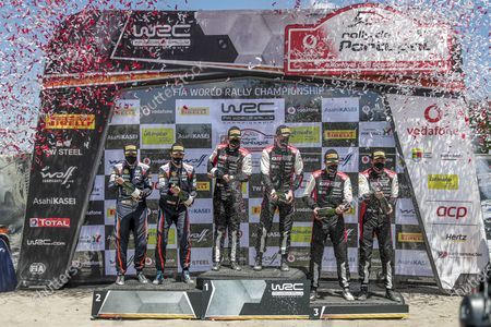 OGIER Sebastien (FRA), TOYOTA Yaris WRC, portrait, INGRASSIA Julien (FRA), TOYOTA Yaris WRC, portrait, SORDO Dani (ESP), HYUNDAI I20 Coupé WRC, portrait, Borja ROZADA (esp), HYUNDAI SHELL MOBIS WORLD RALLY TEAM, HYUNDAI i20 Coupe WRC, EVANS Elfyn (GBR), TOYOTA Yaris WRC, portrait, MARTIN Scott (GBR), TOYOTA Yaris WRC, portrait, Power stage