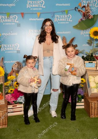 Imogen Thomas and daughters Ariana Siena Horsley and Siera Aleira