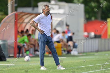 Maurizio Ganz (Head Coach AC Milan) during the women Serie A match between AC Milan and Hellas Verona at Vismara Sports Center in Milan, Italy