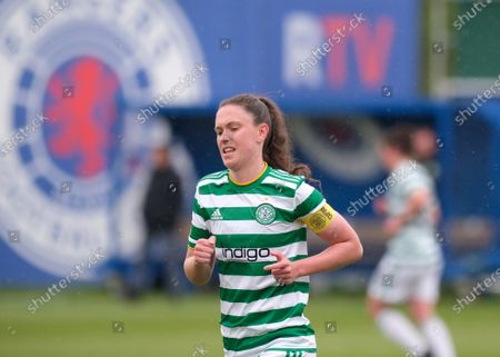 Kelly Clark of Celtic during the Scottish Womenâ€s Premier League 1 match between Rangers and Celtic at Rangers Training Centre in Glasgow, Scotland.