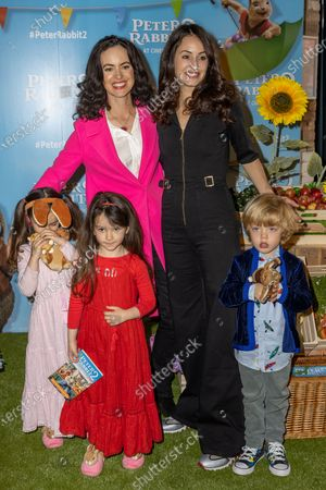 Sally Wood with Daughters Grace and Alice and Melanie Hamrick with Son Deveraux