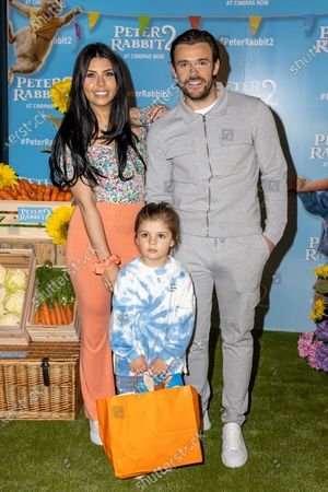 Cara De La Hoyde-Massey, Nathan Massey with their son Fred