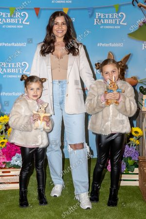 Imogen Thomas and her daughters Siera and Ariana