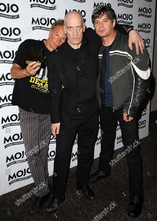 Julien Temple wins The Mojo Vision Award with Wilko Johnson from Oil City Confidential with Jean Jacques Burnel of The Stranglers