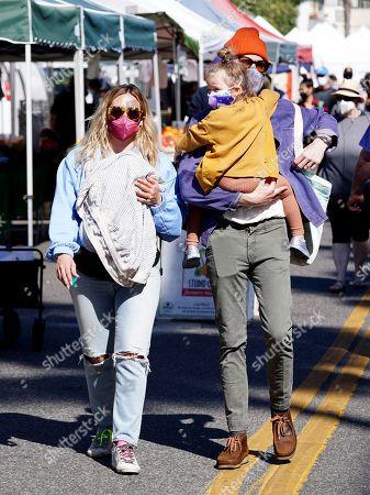Hilary Duff and Matthew Koma, daughters Mae James Bair and Banks Violet Bair