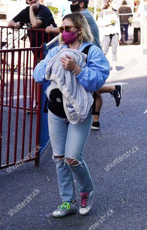 Hilary Duff and daughter Mae James Bair