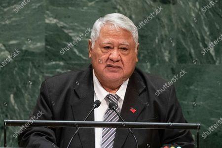Editorial photo of Samoa Leadership Battle, United Nations - 27 Sep 2019