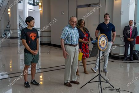Editorial picture of Senator Schumer speaks About Getting Young People Vaccinated For COVID-19 in New York, US - 23 May 2021
