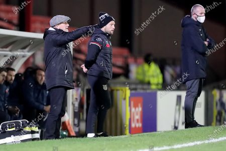 Grimbsy Town manager Ian Holloway during the Sky Bet League 2 match between Grimsby Town and Barrow at Blundell Park, Cleethorpes on Tuesday 3rd November 2020.