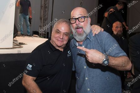 Stock Image of Lee Brian Schrager, left, and chef Andrew Zimmern attend Best of the Fest at SOBEWFF, in Miami Beach, Fla