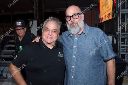 Stock Photo of Lee Brian Schrager, left, and chef Andrew Zimmern attend Best of the Fest at SOBEWFF, in Miami Beach, Fla