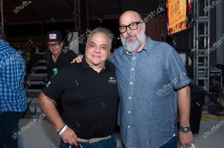 Lee Brian Schrager, left, and chef Andrew Zimmern attend Best of the Fest at SOBEWFF, in Miami Beach, Fla