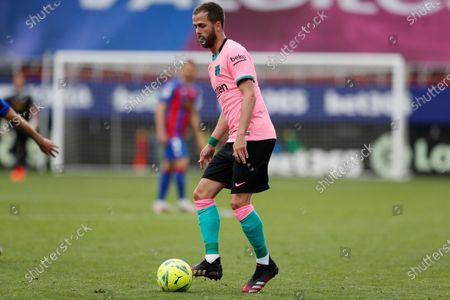 "Miralem Pjanic (Barcelona) - Football / Soccer : Spanish ""La Liga Santander"" match between SD Eibar 0-1 FCBarcelona at the Estadio Municipal de Ipurua in Eibar, Spain."