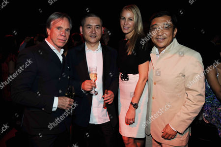 Stock Photo of Tommy Hilfiger, Zeng Fanzhi, Dee Ocleppo and Silas Chou