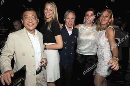 Silas Chou, Dee Ocleppo and Tommy Hilfiger, Diliana Roussev