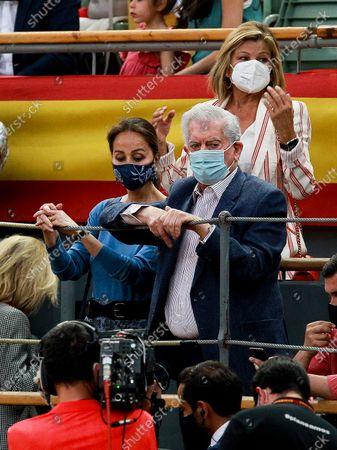 Bullfighters Diego Urdiales, Manzanares and Roca Rey during the bullfighting show performance at Vistalegre bull round in Madrid on May 21, 2021. Socialite Isabel Preysler and Uruguayan Literature Nobel Prize Mario Vargas Llosa