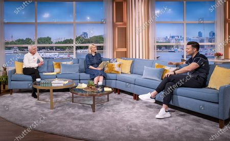 Stock Picture of Phillip Schofield and Holly Willoughby with Mark Wright