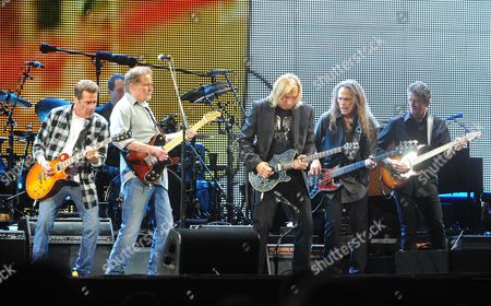 The Eagles - Glenn Frey, Don Henley,  Joe Walsh, Timothy B.Schmit and Steuart Smith