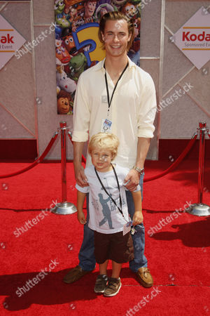 Stock Picture of Erik Von Detten and nephew Jake