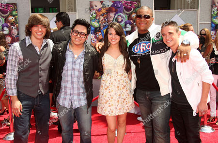 Stock Photo of American Idol's Andrew Garcia, Tim Urban, Michael Lynche, Katie Stevens and Aaron Kelly