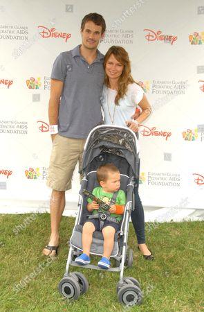 Stock Photo of Mary Lynn Rajskub (R) husband Matthew Rolph (L) and son Valentine Anthony Rolph