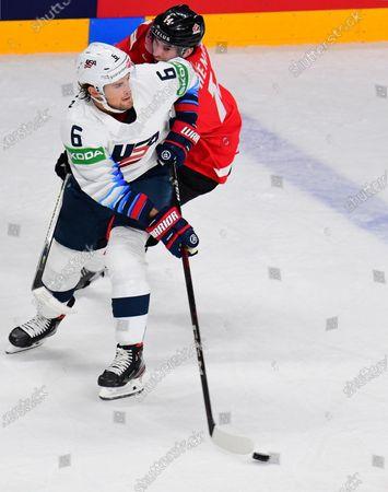 Editorial picture of Canada v USA, Ice Hockey World Championship, Arena-Riga stadium, Riga, Latvia - 23 May 2021