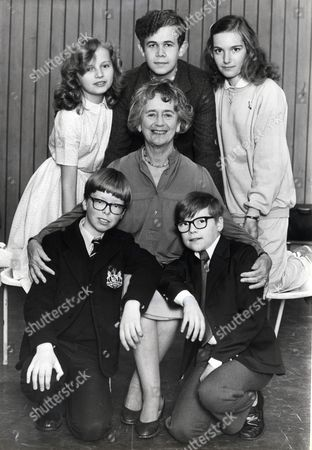 Actress Peggy Ashcroft (died 6/91) With L-r Donna Angell Adam Godley Tanya Ronder Peggy Ashcroft James Downer Timothy Breeze