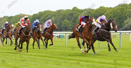 King's Lynn and Oisin Murphy win the Betway Achilles Stakes at Haydock from Moss Gill. 29/5/2021 Pic Steve Davies