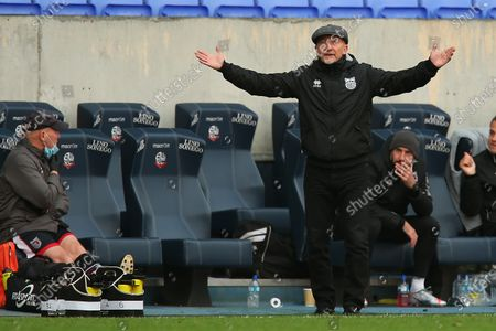 Grimsby manager Ian Holloway during the Sky Bet League 2 match between Bolton Wanderers and Grimsby Town at the Reebok Stadium, Bolton on Saturday 10th October 2020.