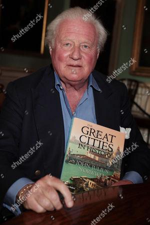 John Julius Norwich signing his new book