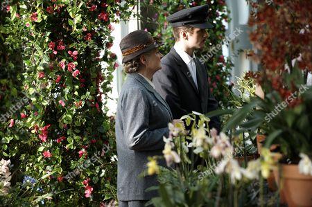 Julia McKenzie as Miss Marple and Sean Biggerstaff (Bobby Attfield)