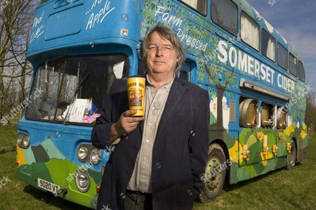 Julian Temperley with his Somerset Cider Bus