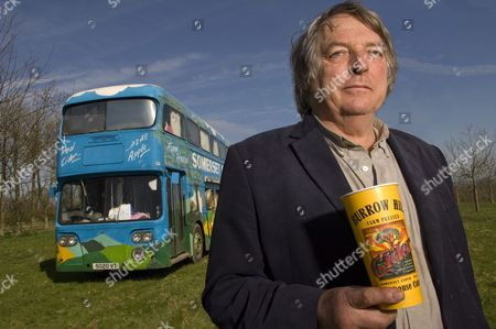 Stock Image of Julian Temperley with his Somerset Cider Bus