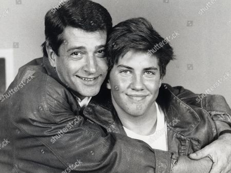 Tony Anholt With His Son Christien Anholt During Rehearsals For 'howard's Way'.