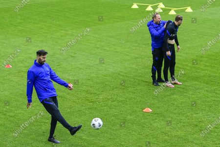 Ruud van Nistelrooy (L) during a training session of the Dutch national team at the KNVB Campus on May 24, 2021 in Zeist, The Netherlands. The Dutch national team is preparing for the UEFA EURO 2020 in Zeist.