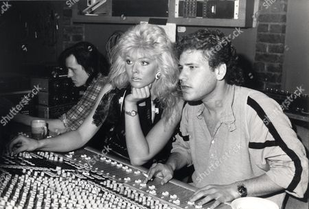 Bond Girl Janine Andrews Now Following A Music Career Seen Here In The Studio