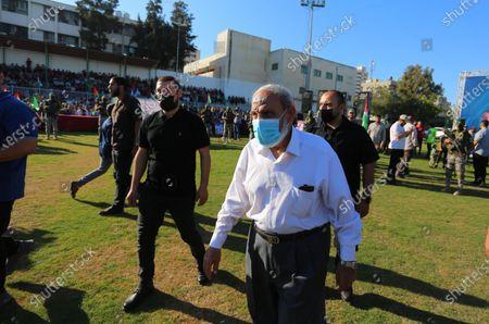 Editorial photo of Senior Hamas leader, Mahmoud Al-Zahar attends a rally in Gaza City, Gaza city, Gaza Strip, Palestinian Territory - 24 May 2021