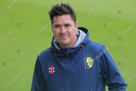 Stock Picture of Durham's Director of Cricket, Marcus North during the Friendly Match match between Yorkshire and Durham at Headingley Cricket Ground, in Leeds, England, on July 28, 2020.