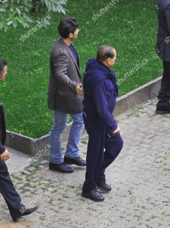 Piersilvio Berlusconi and Silvio Berlusconi