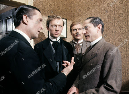 Series 2 Episode 3 - The Norwood Builder Jeremy Brett as Sherlock Holmes, Matthew Solon as John Hector McFarlane, Davd Burke as Dr John Watson and Colin Jeavons as Inspector Lestrade